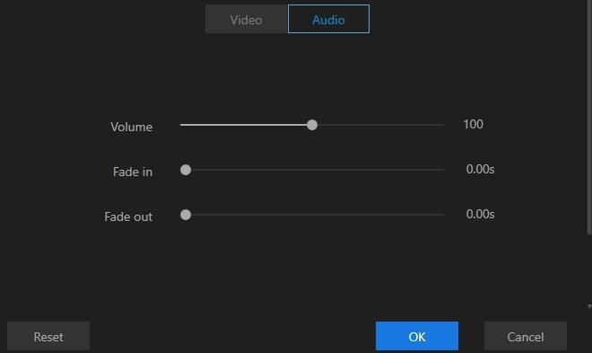change audio parameters