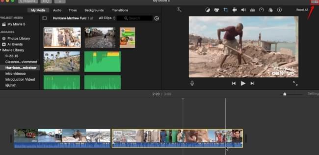 merge video and photo iMovie
