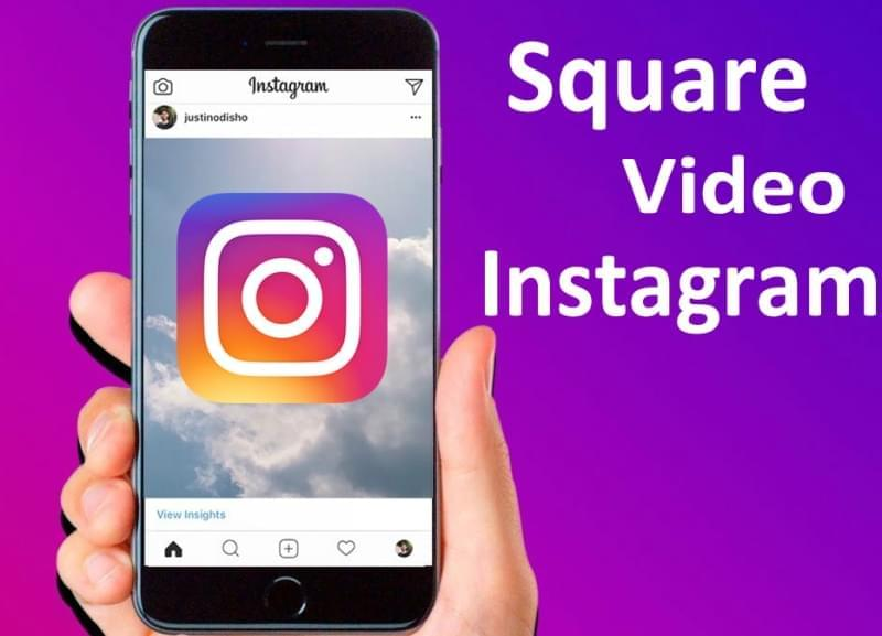 square video for Instagram