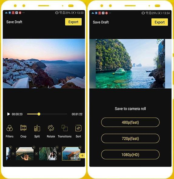 BeeCut app interface